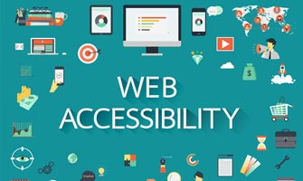 graphic of web accessibility icons to accompany blog post about website accessibility legalities