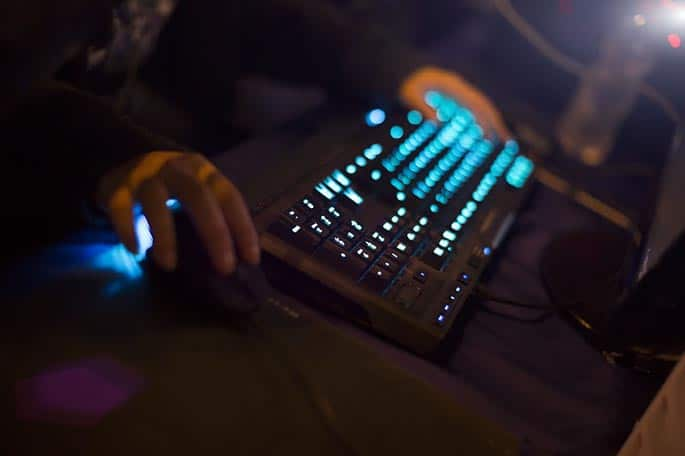picture of gaming keyboard to acompany post about FaZe Clan legal troubles