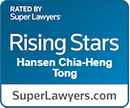 Hansen Tong - Super Lawyers Rising Star Award 2019 - IP Attorneys, Contract Lawyer