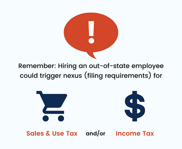 Remote Working Tax Implications: Triggering Sales & Use Tax Nexus or Income Tax Nexus